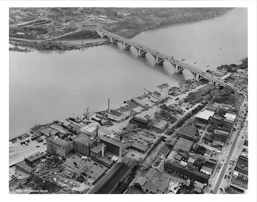 Aerial photo of Georgetown from 1940s