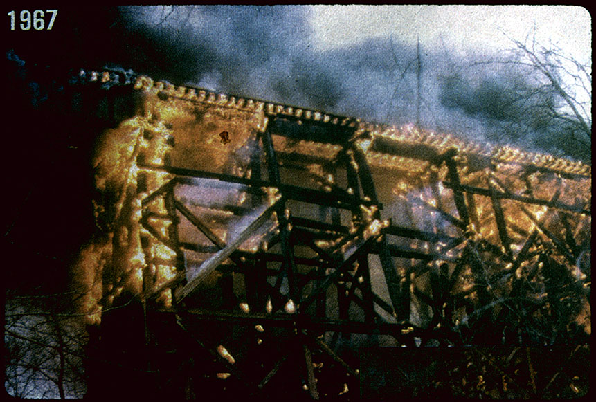 1967, Rock Creek Trestle burns