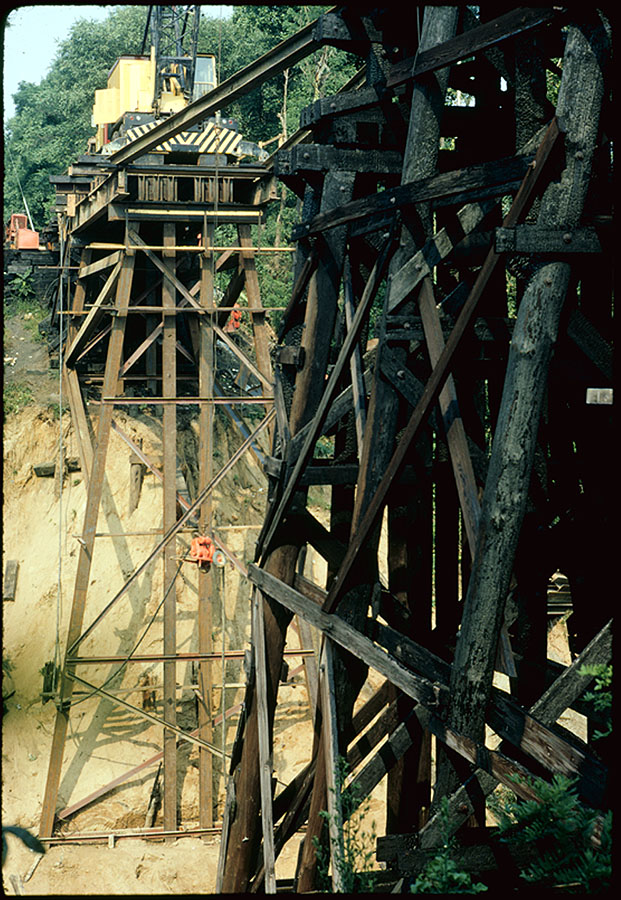 1972 - Rebuilding Rock Creek Trestle