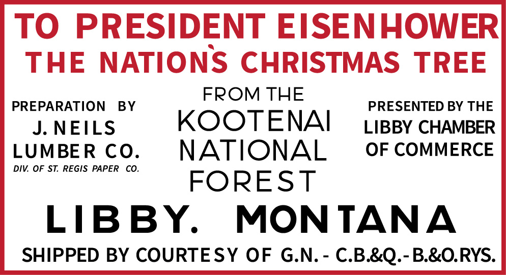 Rendering of 1958 National Christmas Tree sign