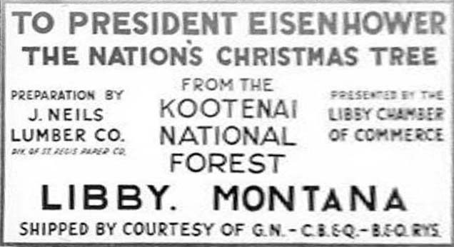 1958 sign on the National Christmas Tree in Georgetown, DC