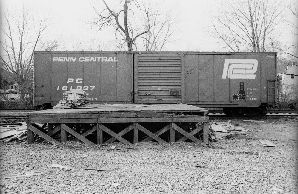 PC 161337 is an ex NYC Class 968B box car.
