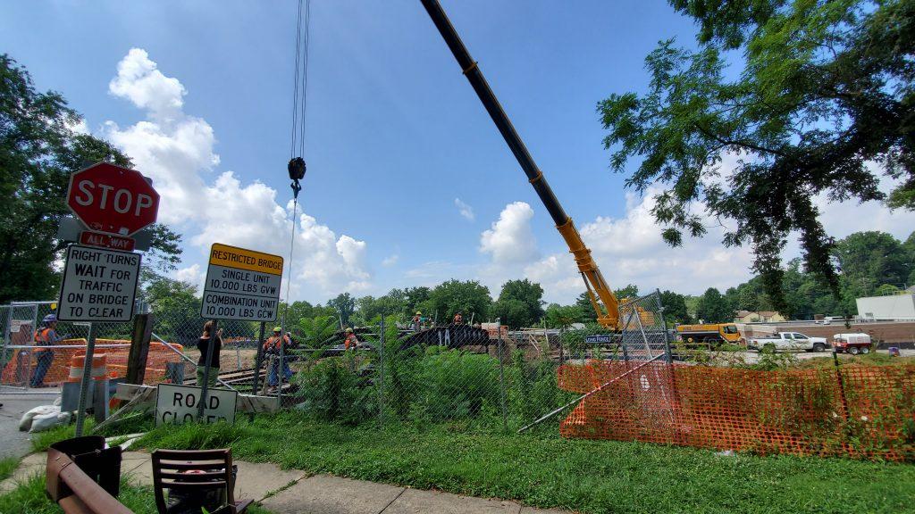 Bridge demolition is nearly done.